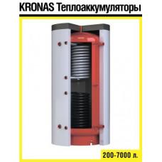 Теплоакумулятор Kronas ТА2.1000 з двома теплообмінниками