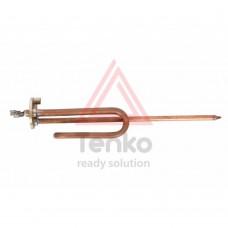 ТЭН 1,5 кВт для бойлера, фланець 48 мм, мідь, гнутий, під анод М6, довга ніжка
